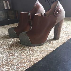 FENDI Leather & Suede Heels